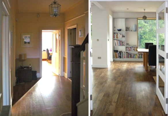 hall before and after